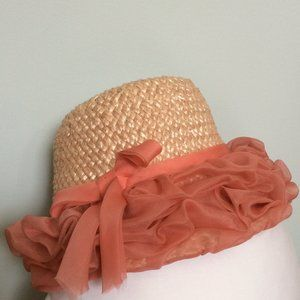 Vancouver vintage pink straw hat—